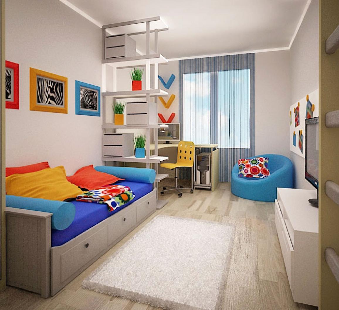Ремонт комнаты для школьника своими руками 62